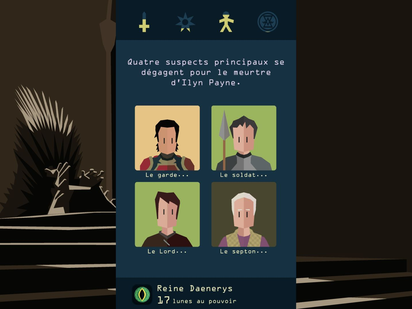 Reigns: Game of Thrones (copie d'écran 10 sur iPhone / iPad)