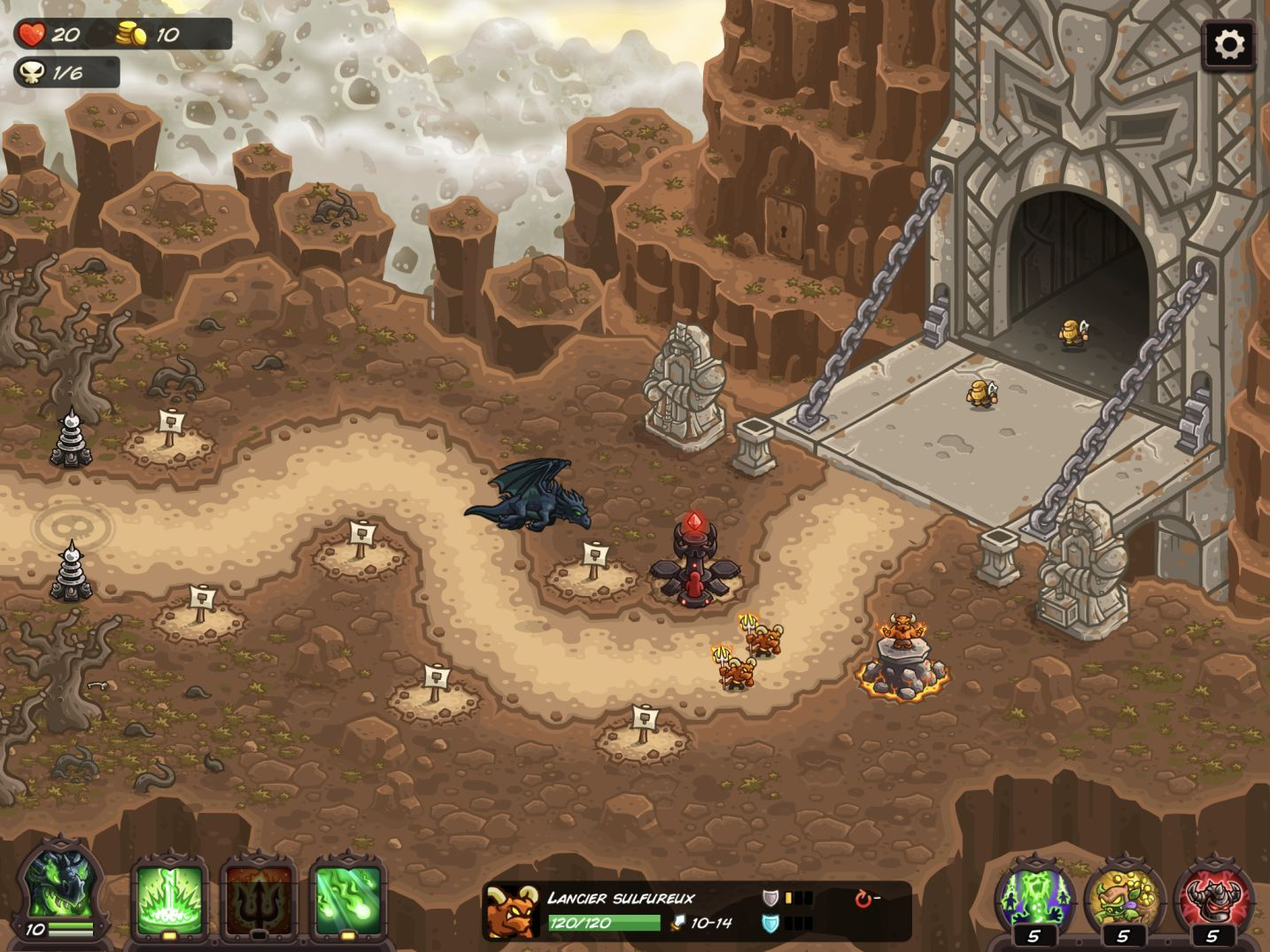 Kingdom Rush Vengeance (copie d'écran 2 sur iPhone / iPad)