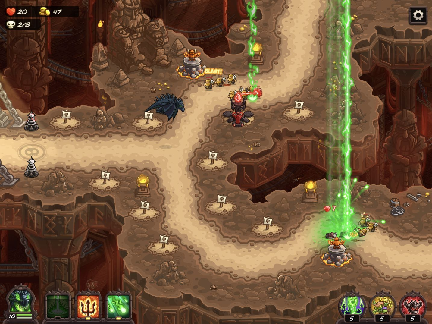 Kingdom Rush Vengeance (copie d'écran 3 sur iPhone / iPad)