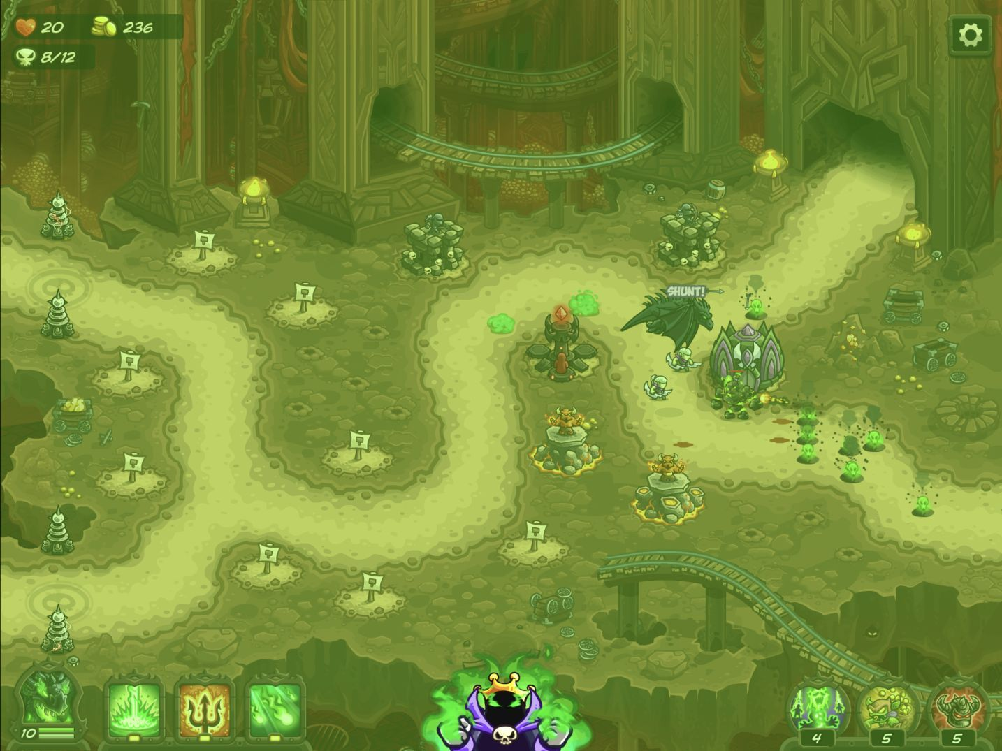 Kingdom Rush Vengeance (copie d'écran 5 sur iPhone / iPad)