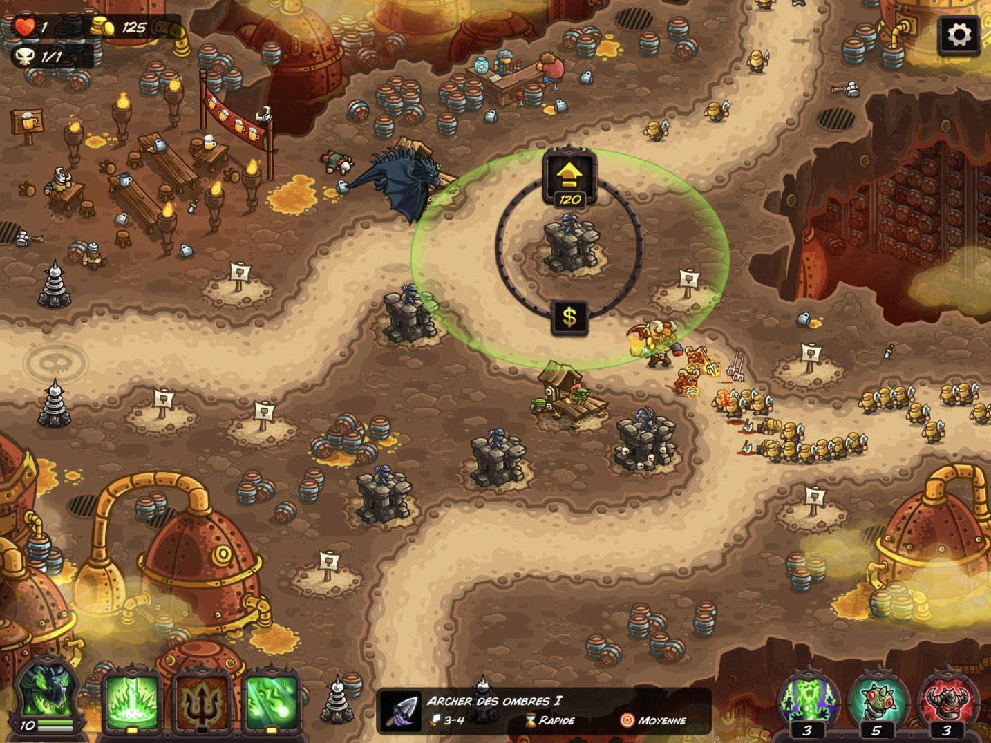 Kingdom Rush Vengeance (copie d'écran 7 sur iPhone / iPad)