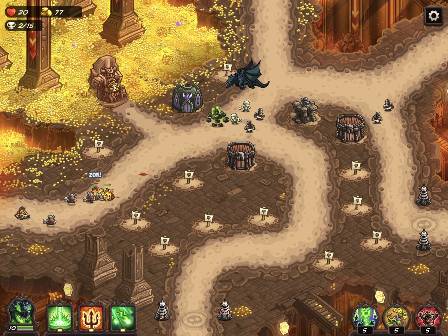 Kingdom Rush Vengeance (copie d'écran 8 sur iPhone / iPad)