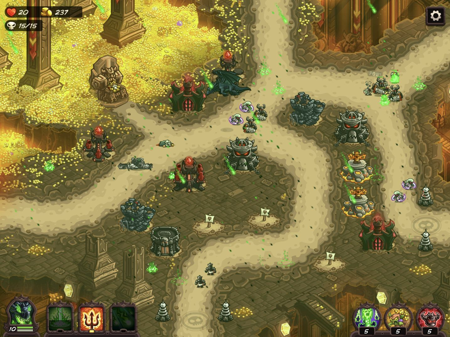 Kingdom Rush Vengeance (copie d'écran 9 sur iPhone / iPad)