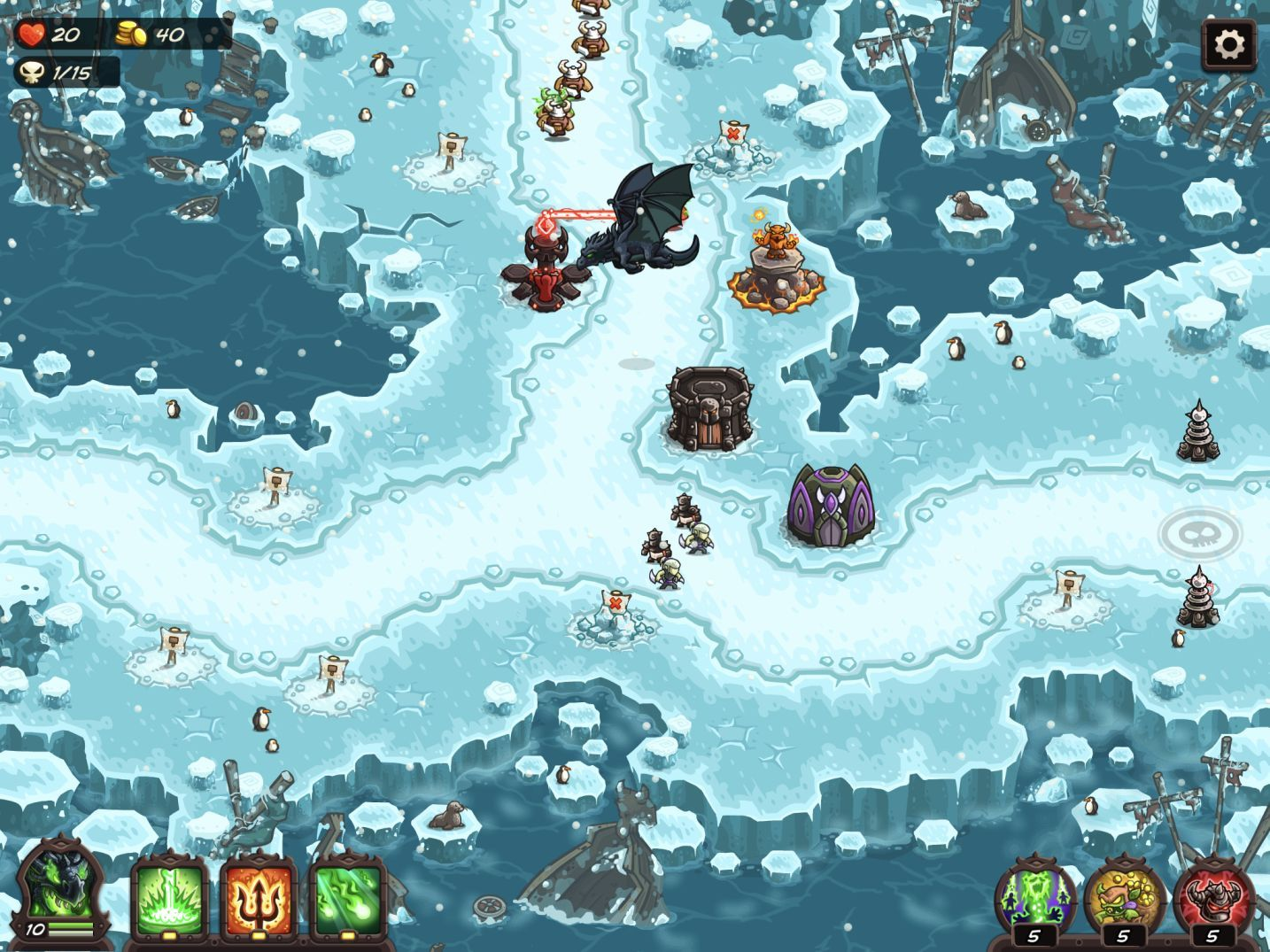 Kingdom Rush Vengeance (copie d'écran 12 sur iPhone / iPad)
