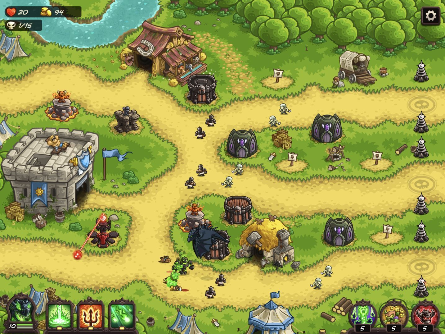 Kingdom Rush Vengeance (copie d'écran 21 sur iPhone / iPad)