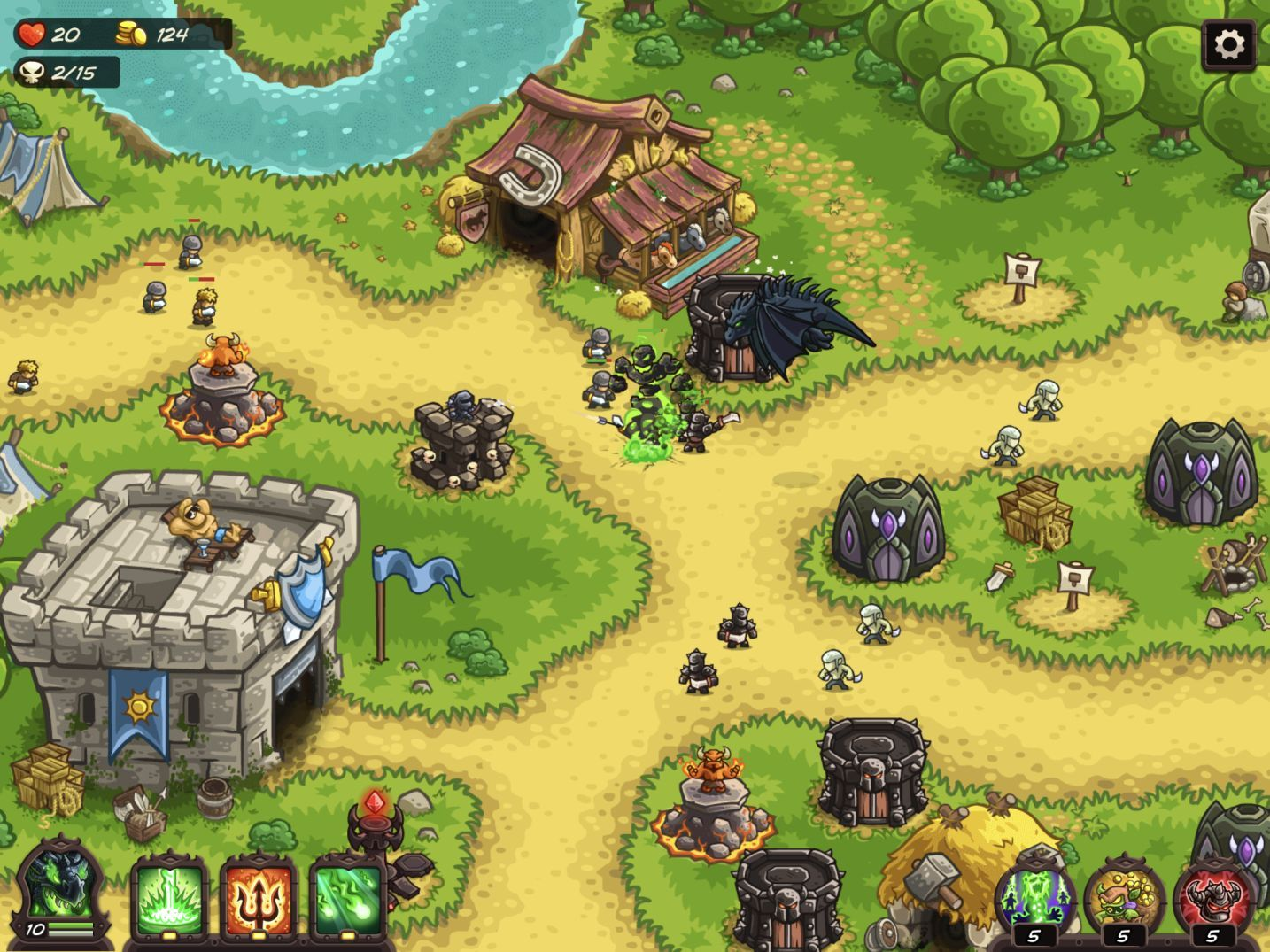 Kingdom Rush Vengeance (copie d'écran 24 sur iPhone / iPad)