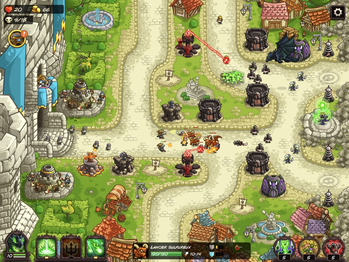 Kingdom Rush Vengeance (copie d'écran 27 sur iPhone / iPad)
