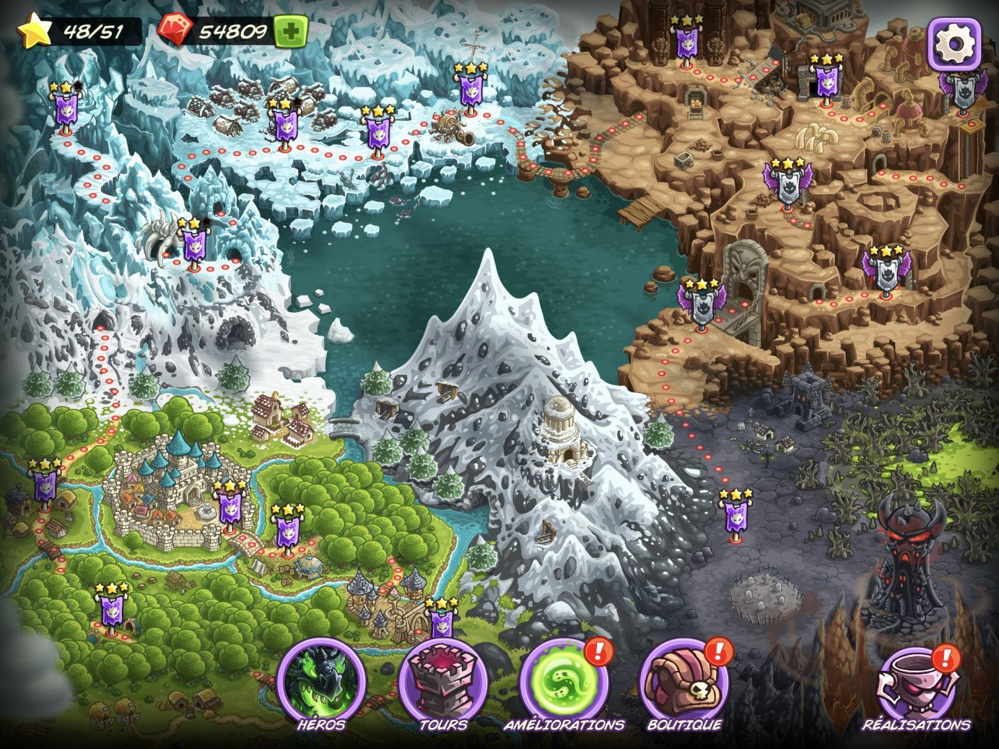 Kingdom Rush Vengeance (copie d'écran 28 sur iPhone / iPad)