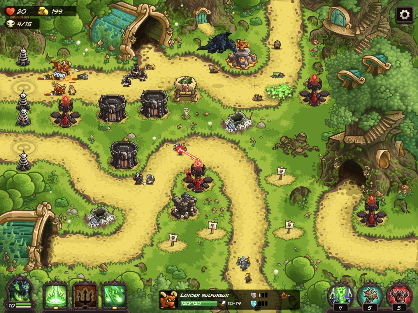 Kingdom Rush Vengeance (copie d'écran 17 sur Android)
