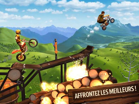 Trials Frontier de Ubisoft sur iPhone / iPad
