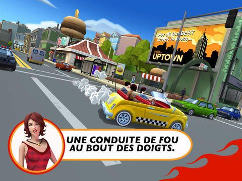 Crazy Taxi City Rush de SEGA sur iPhone et iPad