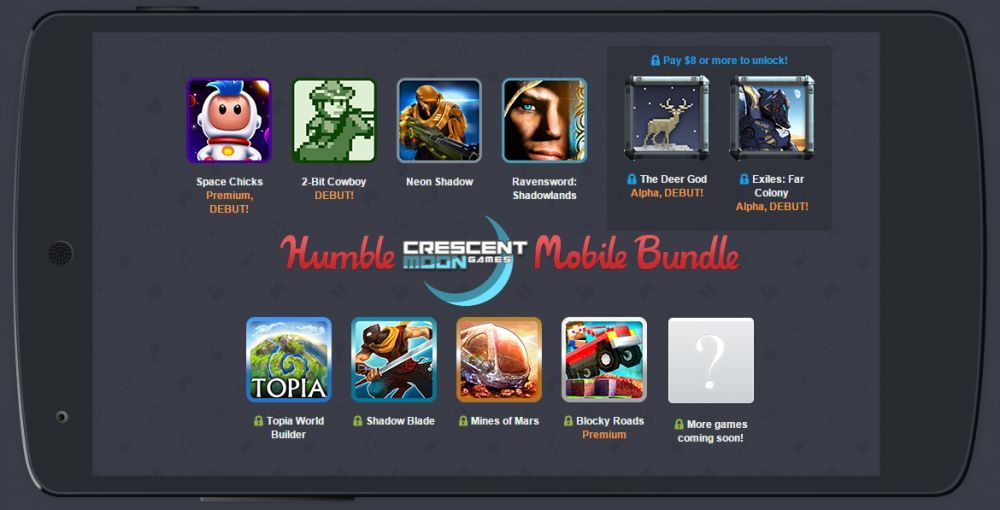Humble Bundle Mobile spécial Crescent Moon Games